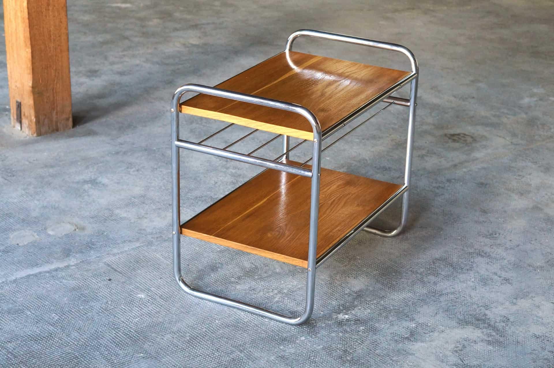 Stahlrohr Regal Beistelltisch Im Bauhaus Design Zeitflair